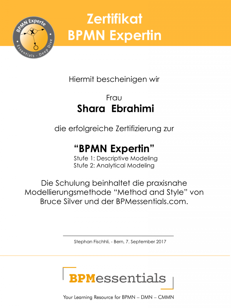 Certification Bpmn Method And Style Bpmessentials